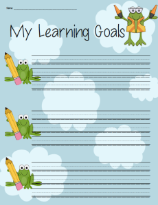 Learning Goal student record